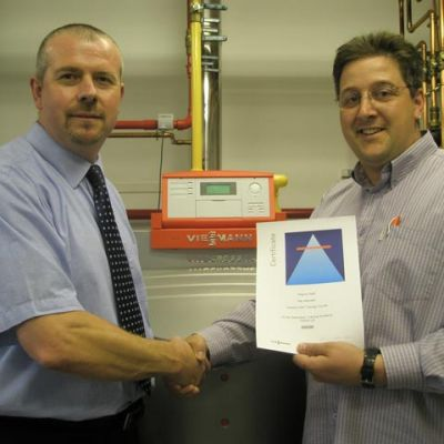 2010 Training at Viessmann headquarters UK on installation and servicing of their latest boilers.